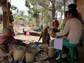 Community visit and training for weavers