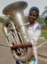 Daisy with her Eflat Tuba