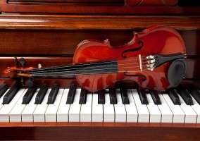 A variety of instrumental lessons are available