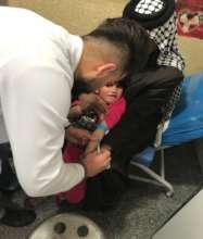 A little brain damaged girl gets health care
