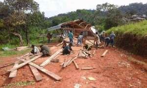 Dismantling the dormitory post cyclone Mora