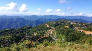 Lailenpi Town is nestled high in the Chin hills