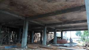 The first floor slab from underneath