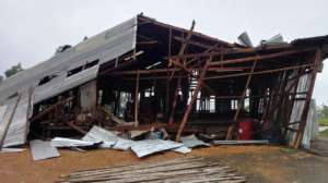 Training Centre destroyed by Cyclone Mora