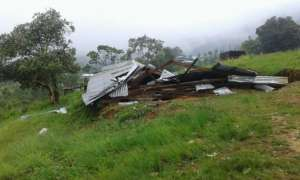Training Centre buildings flattened by the storm