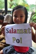 "On behalf of Xyrelle, ""Salamat Po"" (or Thank You)"