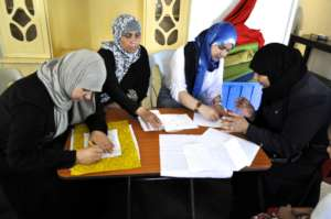 Hard at work at the Hope Workshop, Amman