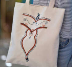 Made and sold in Jordan - one of the Hope bags