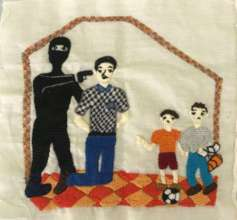The refugees tell their story through embroidery