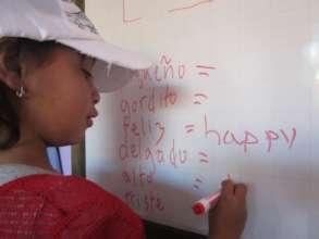 Children love English classes at CETAP-Lucy