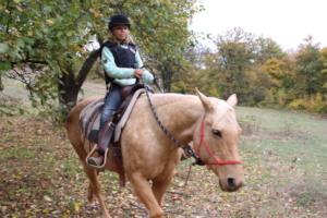 Aya enjoying a ride on beautiful Fany