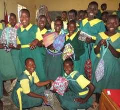 Distribution of sanitary pad kits in Kokwa school