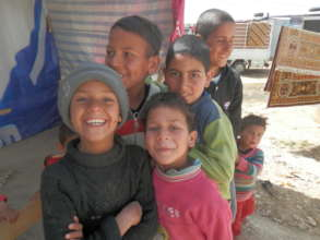 Children living as refugees from Syria in Jordan