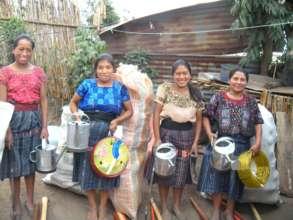 Women with their Gardening Kits