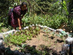 Micaela with her Garden
