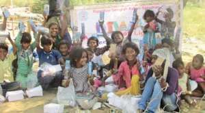 Street Kids Celebrating; The Festival of Lights !!