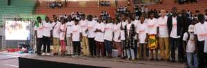 On the Podium at a Robotics Competition in Dakar