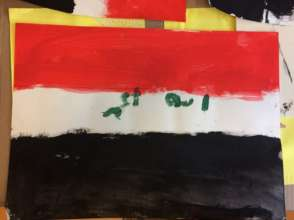 Ali's painting from his art therapy session