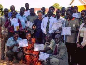 The graduating teachers group in Uganda