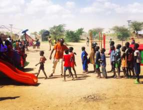 Children's center in Kakuma refugee camp, Kenya