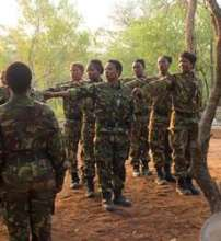 Black Mambas preparing for patrol