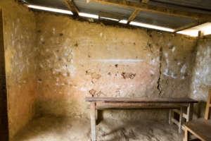 Earthquake damaged classroom