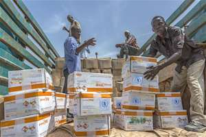 UNICEF distributes Ready-To-Use Therapeutic Food.