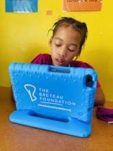 Anganathi working on The Breteau Foundation tablet