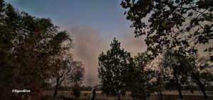 Smoke Fills Bandhavgarh Skies