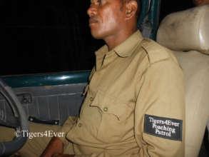 Tigers4Ever Poaching Patroller on Night Patrol