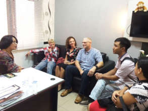 Sergeant Mike Geiger meeting with East Java Police
