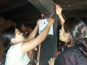 Solar electricians installing solar power!
