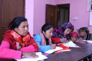 Women from remote villages receive training