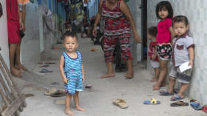 The children of factory workers