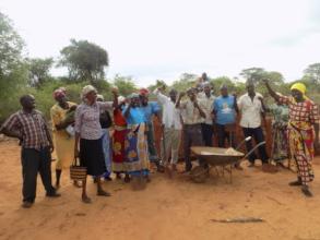 community celebrating initial steps.