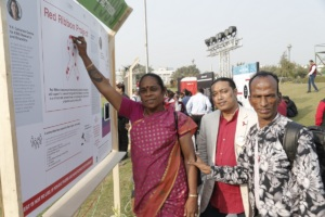 Community leaders at the exhibition