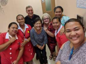 HBF with clinic nurses in the Kingdom of Tonga