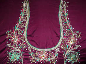 Fine detail work used in ceremony garments.