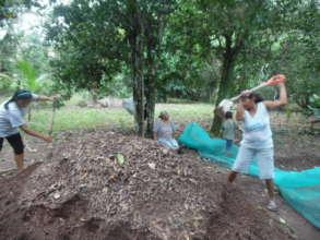 Preparing soil for seedlings