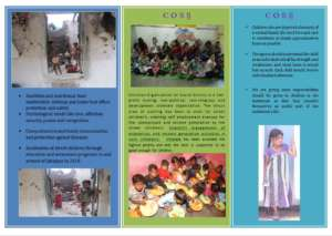 Street children Brochure of coss