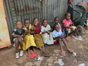 Kenyan children from poor background