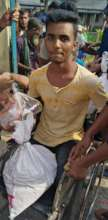 Physical handicapped received relief Materials