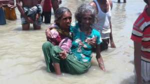 Old ages women Carrying from affected house