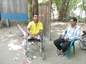 Akash is Physical Handicapped with Wheel Chair