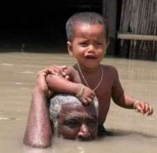 Parents taking safe Place to his Child