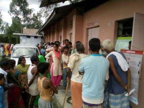 Health Camp & distribution of immediate medicines
