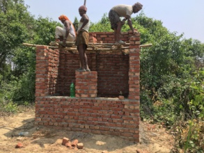 Safe toilet construction work on-going