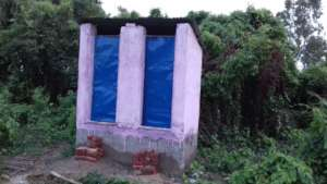 Toilet- under construction in  process
