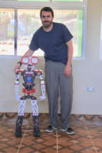 Juany the Robot and Volunteer Matt