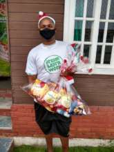 DLW participant during Christmas box distribution